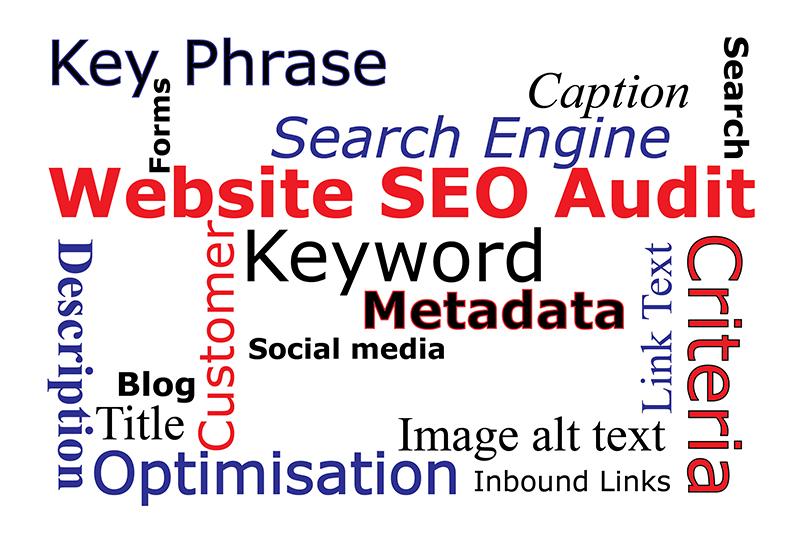 Website SEO Audit wordcloud