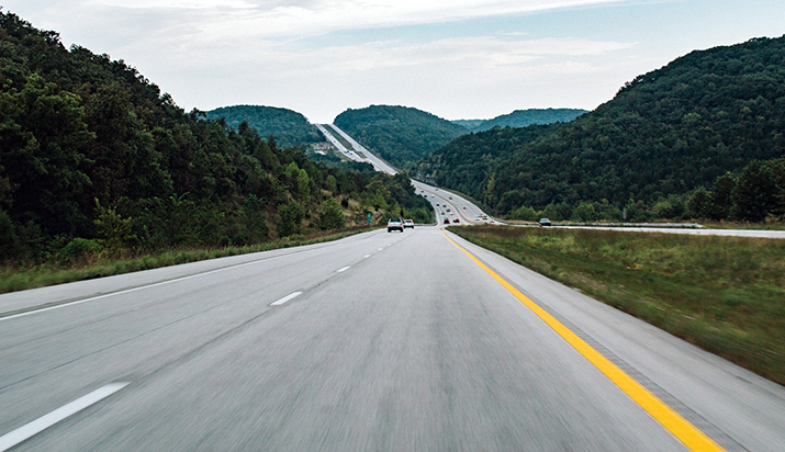 Customer journey audit open road stretching into the distance